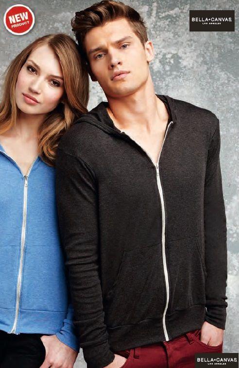 BELLA Felpa maglia uomo donna cappuccio zip attillata leggera | T-shirts a maniche lunghe | Abbigliamento donna | Mikyart.it