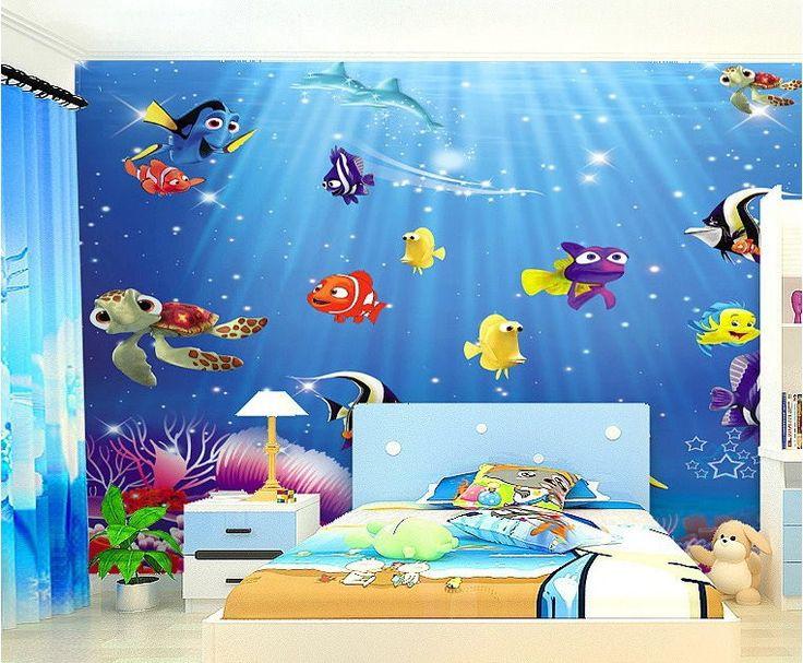 Finding Nemo Cartoon Wallpaper Wall Mural Kids Wallpaper