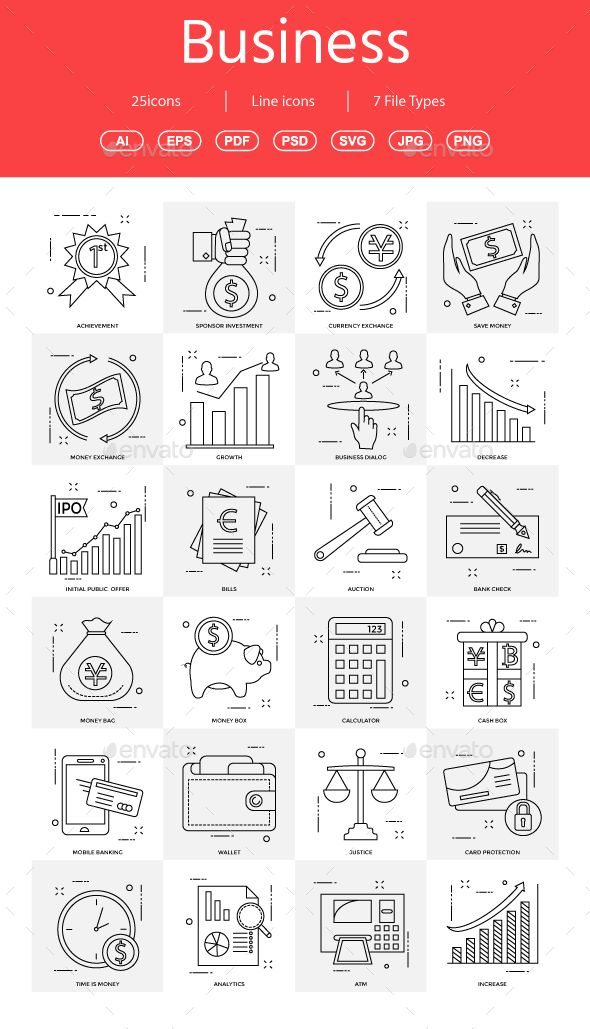 15+ Vector Business #Illustration vol 12 - #Business #Icons