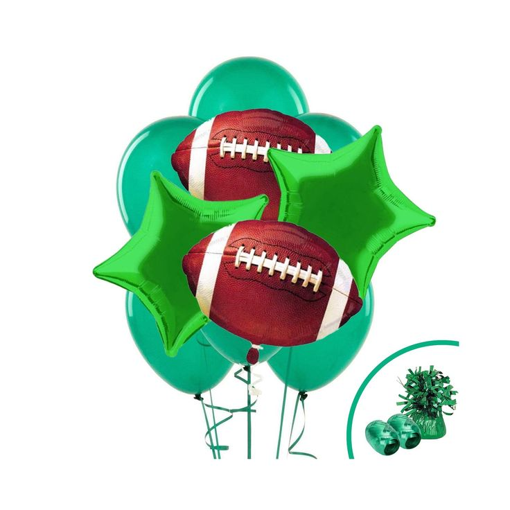 Football balloon bouquet kit multicolored football