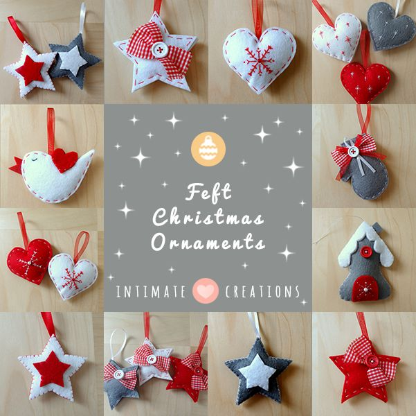 INTIMATE CREATIONS: Felt Christmas Ornaments