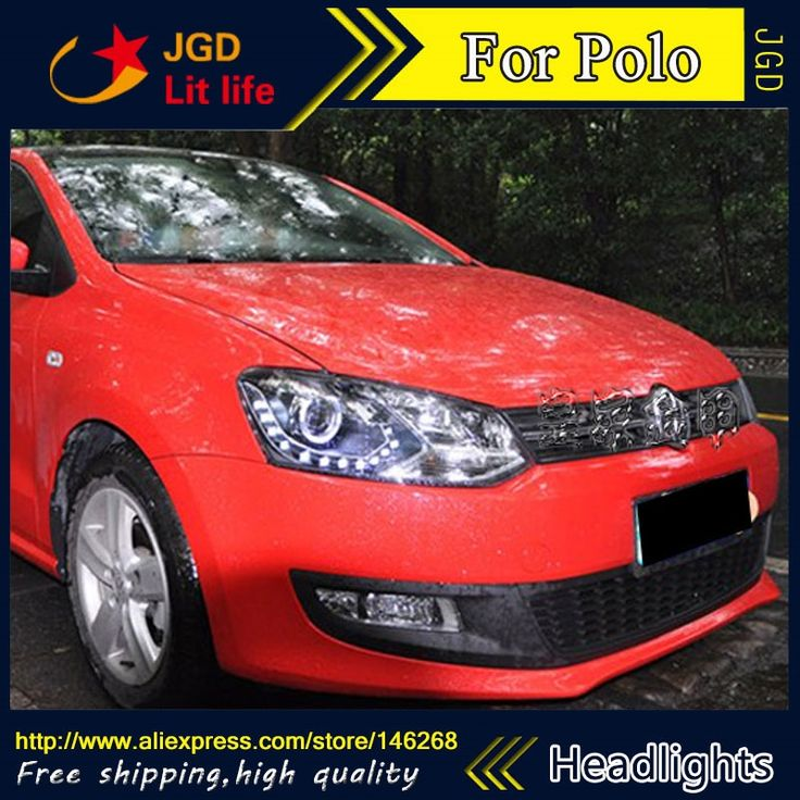 475.80$  Buy here - http://alirwe.worldwells.pw/go.php?t=32743434077 - Free shipping ! Car styling LED HID Rio LED headlights Head Lamp case for VW Polo 2011 Bi-Xenon Lens low beam 475.80$