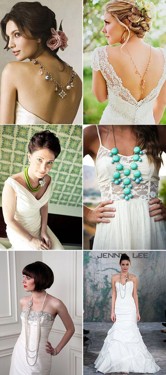 Collares con estilo para novias