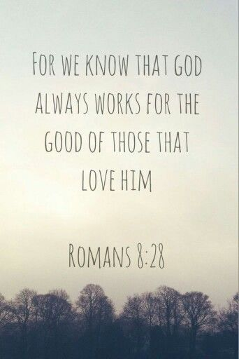 And we know that all things work together for good to those who love God, to those who are the called according to His purpose. (‭Romans‬ ‭8‬:‭28‬ NKJV)