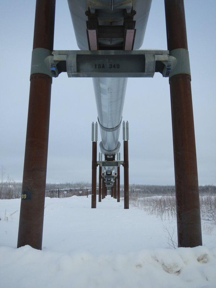 Detail of the Alaskan Pipeline - Deadhorse - Prudhoe area of Alaska