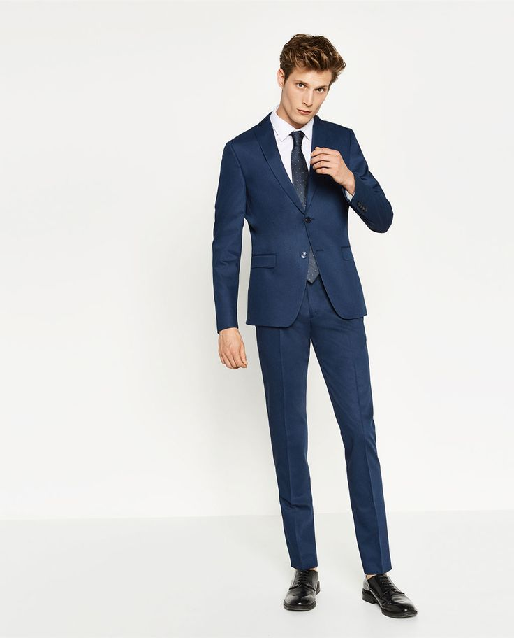 COSTUME EN CHINTZ BLEU-COSTUMES-HOMME | ZARA France