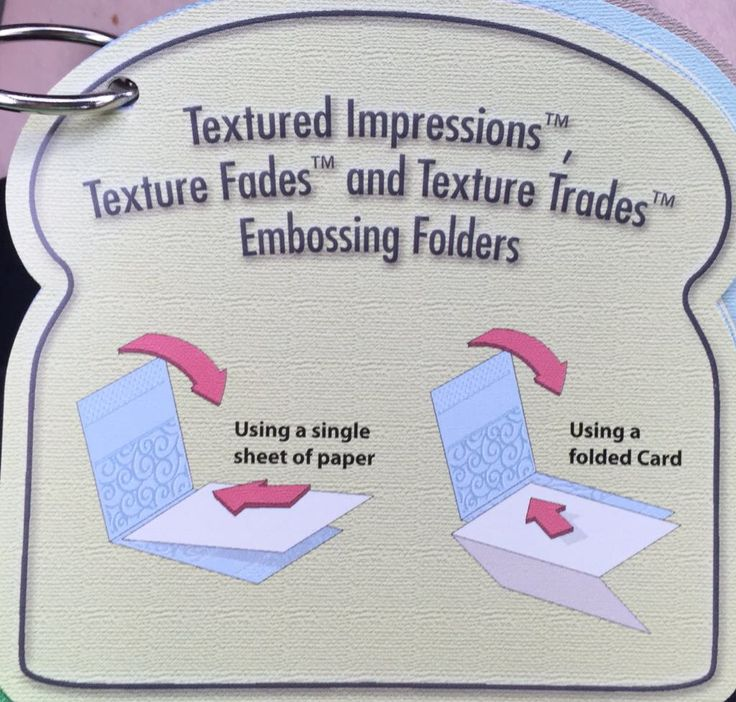 Sizzix Tips #3A of 13 Textured Impressions, Texture Fades & Texture Trades Embossing Folders