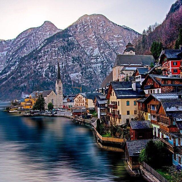 No wonder #Hallstatt #Austria is considered one of Europe's most beautiful villages. Photo courtesy of brianthio on Instagram.