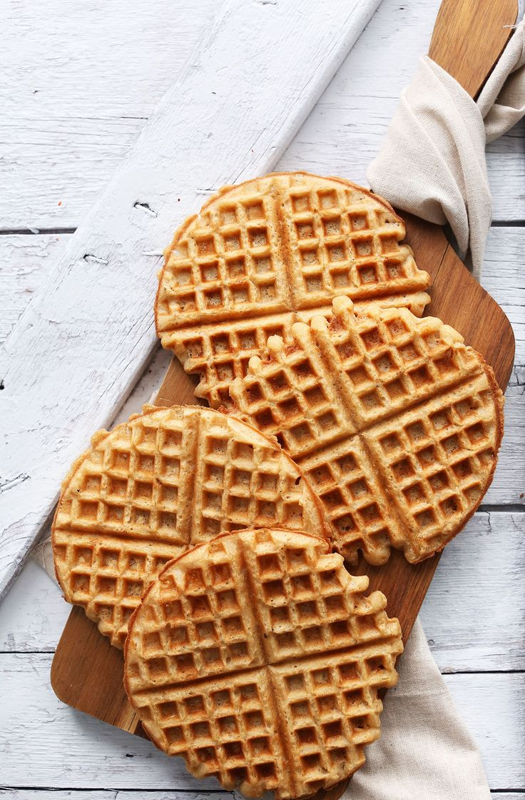 EASY 30-minute YOGURT WAFFLES! Totally #vegan #glutenfree and SO tender and crisp!!