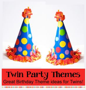 Twins Party Themes | Birthday Party Ideas for Kids / Fun themes and ideas for twins birthday parties.  http://www.birthdaypartyideas4kids.com/twins-party-themes.htm