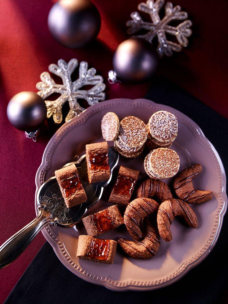 Aus einem Teig ganz leicht drei verschiedene Kekse mit Mandeln , Orange und…