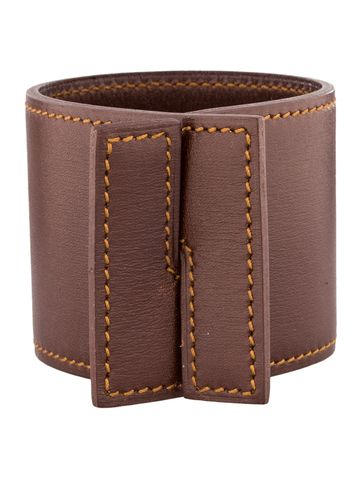 Hermes Leather Cuff Bracelet