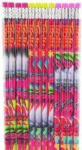Trolls Cooper,Guy Diamond, Poppy,DJSuki Green/Red/Pink Wooden Pencils Pack of 12