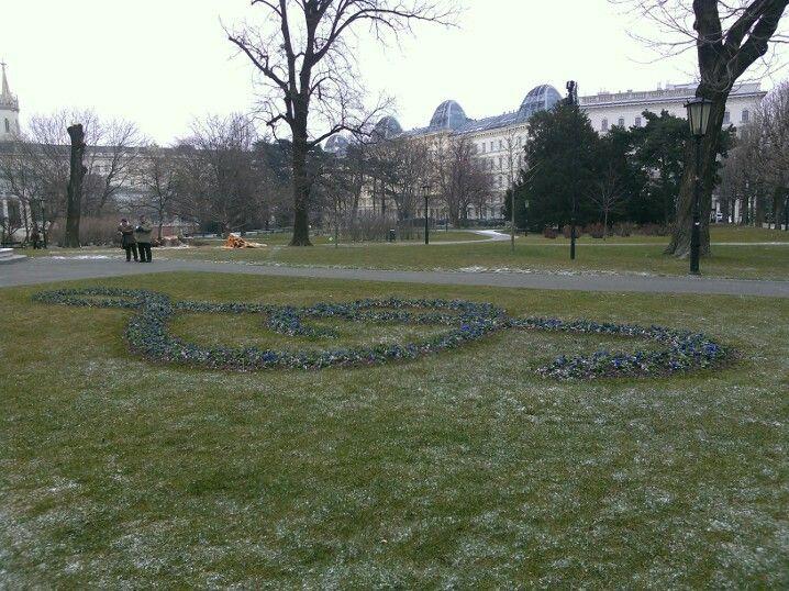 Hoffburg gardens. Wienna