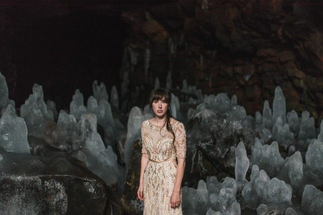 This Couple's Real-Life Frozen Wedding Will Make You JEALZ via Brit + Co. #icelandic #wedding #iceland