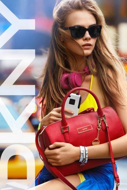 Cara Delevingne - DKNY - Spring 2013 ad campaign