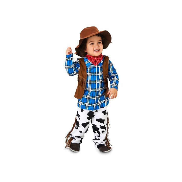 Halloween Boys' Rodeo Cowboy Costume - 2T/4T, Size: 2T-4T, Multi-Colored