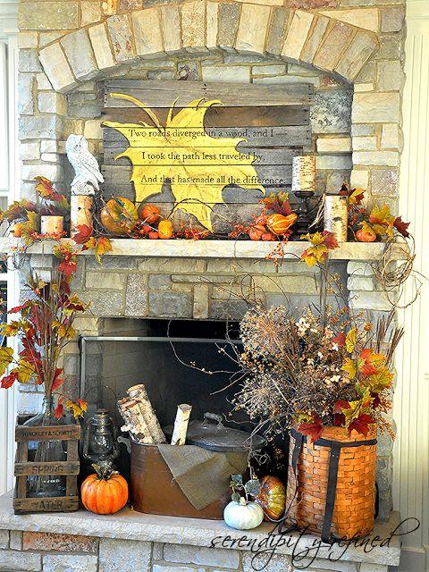 1000 Ideas About Autumn Mantel On Pinterest Fall
