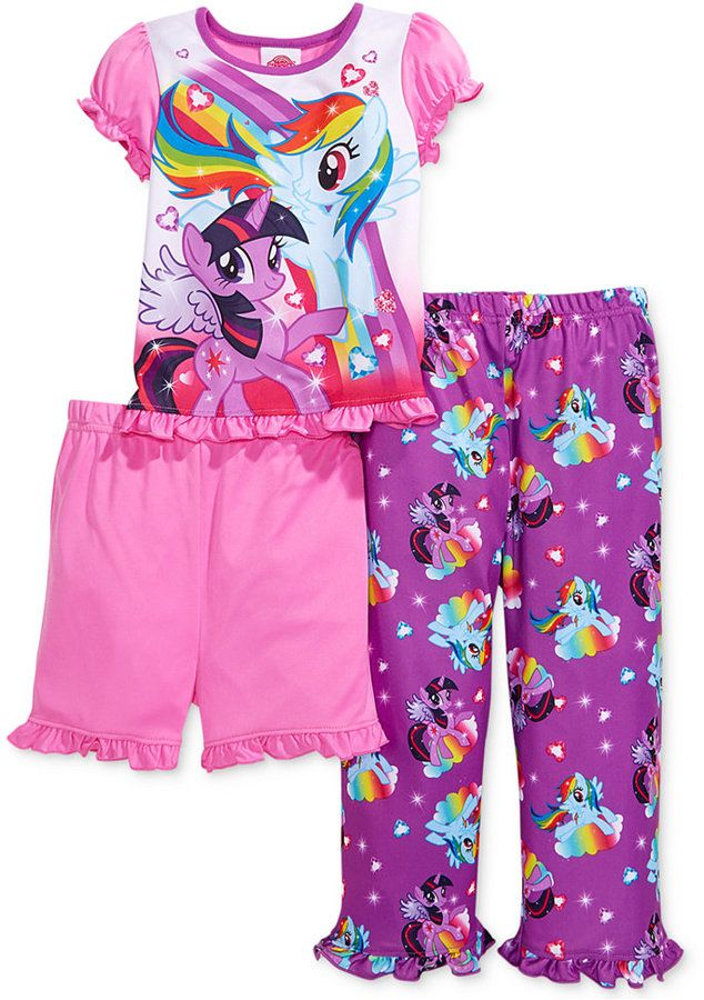 AME Toddler Girls' 3-Piece My Little Pony Pajamas on shopstyle.com