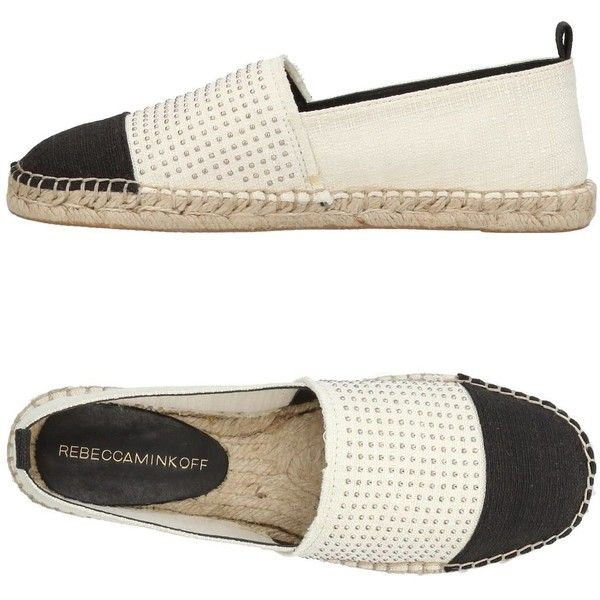Rebecca Minkoff Espadrilles ($135) ❤ liked on Polyvore featuring shoes, sandals, ivory, flat espadrille sandals, rubber sole shoes, ivory sandals, flat espadrilles and flat sandals