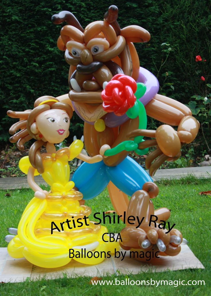 Balloon win. This would be so cute for a Beauty and the Beast themed party