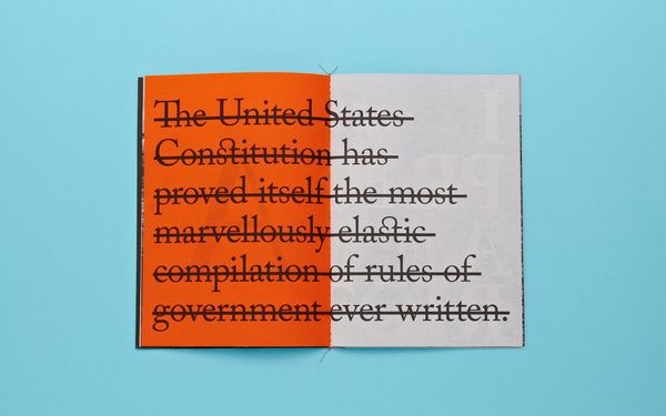 Caslon Type Specimen by Two Times Elliott , via Behance