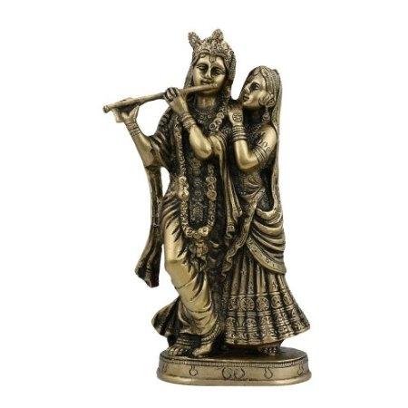Amazon.com: Brass Sculpture Lord Krishna and Radha: Home & Kitchen