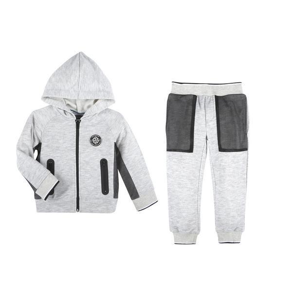 Grey Hoodie & Pant with Mesh