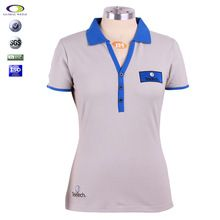 Color combine button v-neck polo collar women batik t-shirt  Best seller follow this link http://shopingayo.space