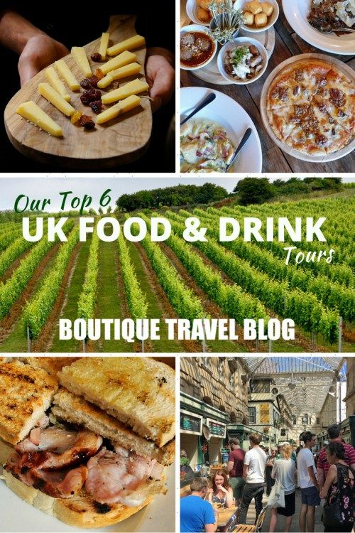 Top 6 food and drink tours in the UK from the Boutique Travel Blog team, from fabulous wine tours and gin tastings to London's Borough Market and Belfast's exciting food scene.