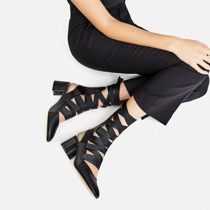 LACE-UP HIGH-HEEL SLINGBACKS-View all-SHOES-WOMAN | ZARA United States $60