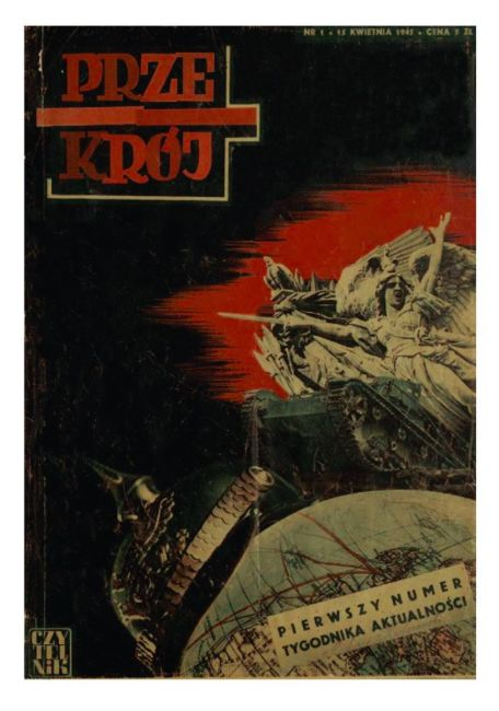 Cover of Przekrój magazine. First issue - dated April 15,1945.
