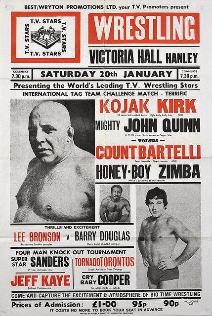 wrestling poster, hanley