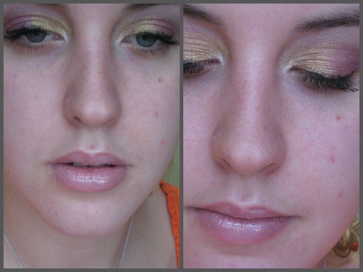 pink and gold makeup  http://www.youtube.com/watch?v=AR_oB8CoGqk