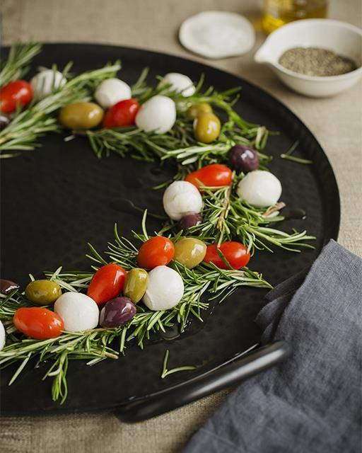 Festive Holiday Antipasto Wreath