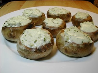I make these all the time, so delicious. Boursin cheese stuffed mushrooms. 10 mins in the oven. done.