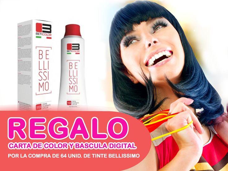 TINTE BELLISSIMO compra 64 unidades de tinte, regalo carta de color y bascula digital. Vigente hasta finales de mayo 2015 http://www.beticolor.com