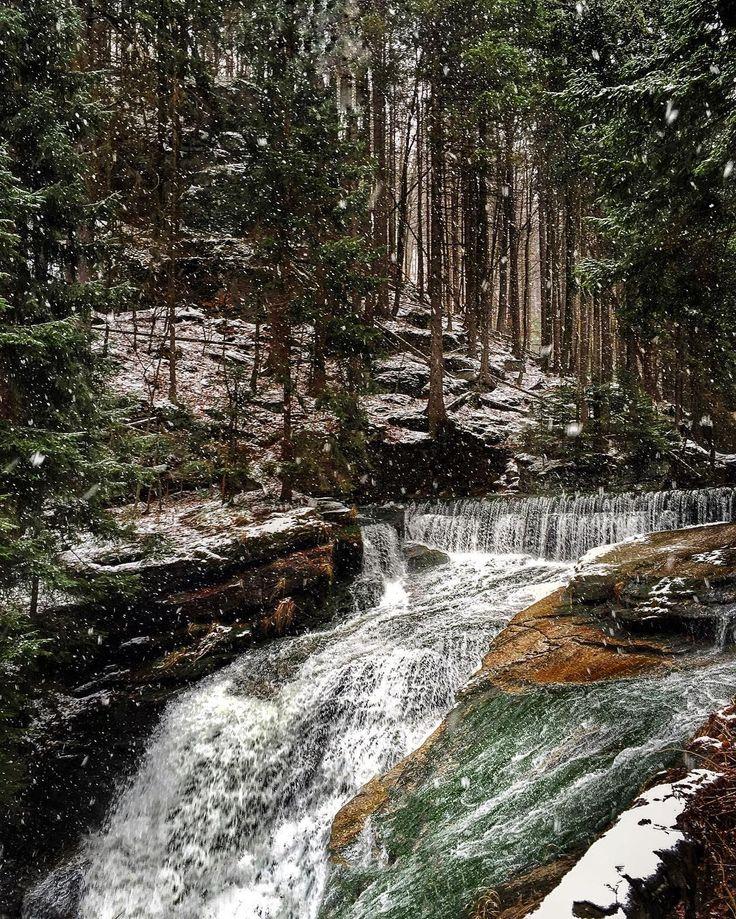 A snowy day in Karkonosze National Park