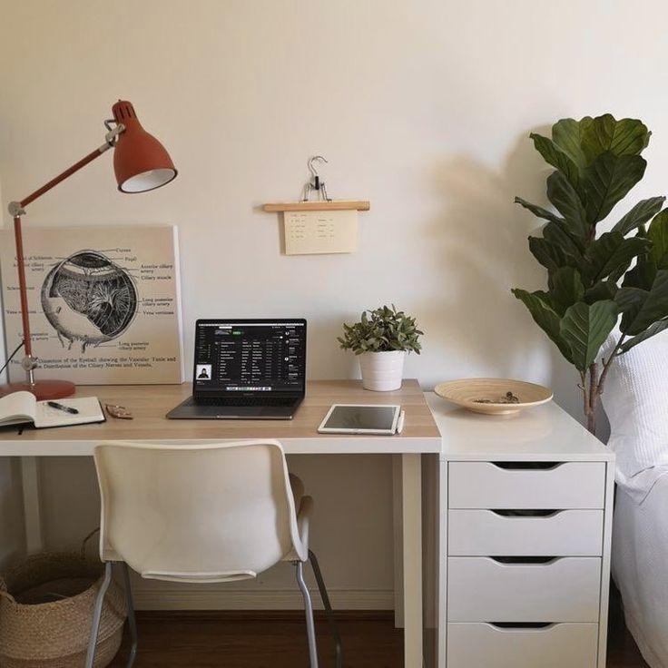 𝒑 on Twitter Room design bedroom, Minimalist room, Study