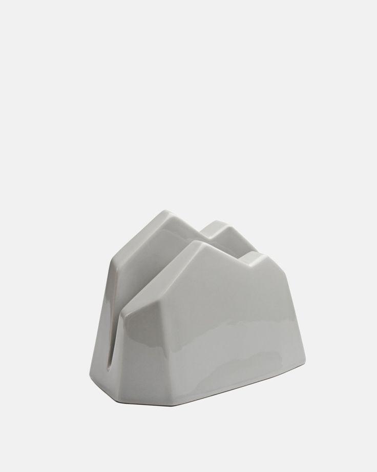 Officina Letter Stand in Grey by Kahler Design