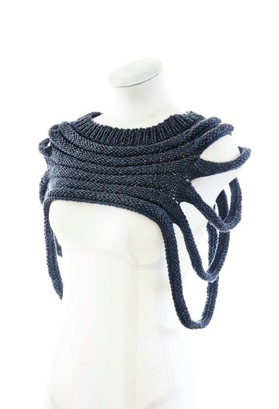 Knitting Pattern for unique versatile cowl Outbreak post apocalyptic cowl -- see pics of different ways to wear it on Etsy (affiliate link)