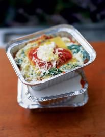 You can either make this lasagne in 6 individual ovenproof dishes or in 1 large 3-litre ovenproof one. Alternatively, assemble it in 6 individual foil containers, cover with the lids and freeze for up to 3 months. Defrost thoroughly and cook as per the recipe.