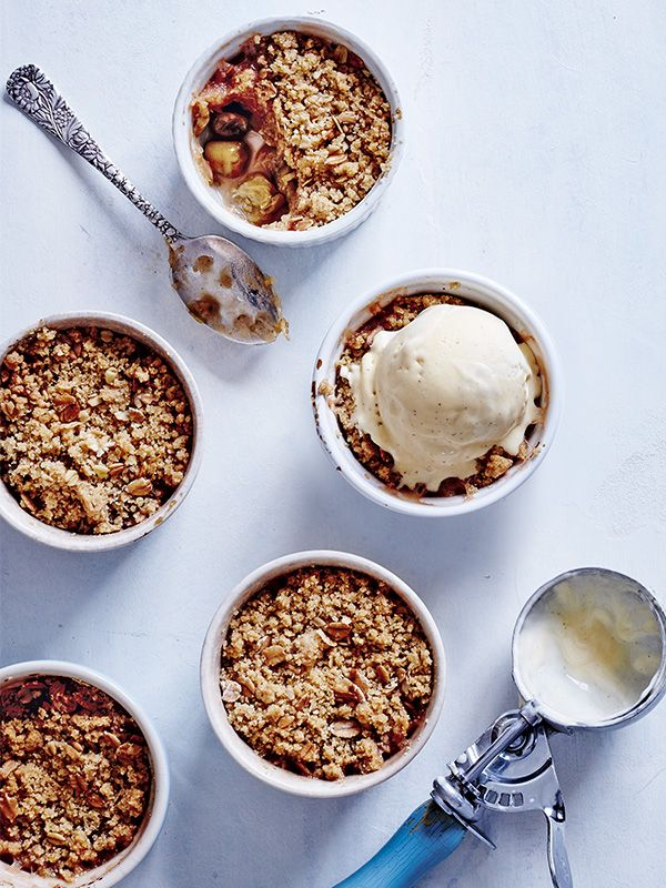 This recipe for cinnamon and gooseberry crumbles is really easy to follow but they make great individual puds. Make a batch and freeze some for when you need a sweet hit.