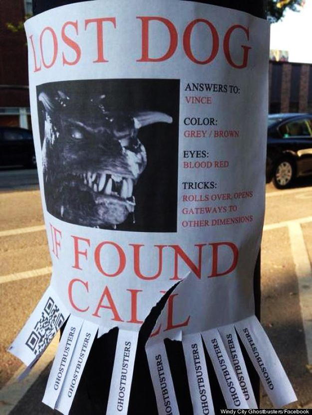 Best Lost Dog Flyer Ever P Ghostbusters Humor  All Things