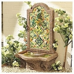 Bright Tuscan-inspired fountain