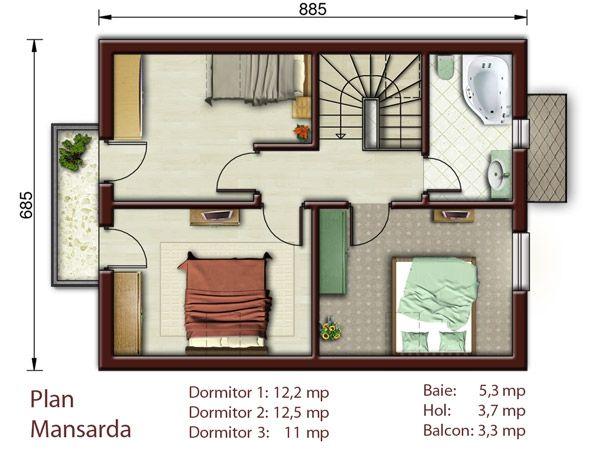Proiecte de case pentru o familie cu patru membri Best house plans for a family of four 3
