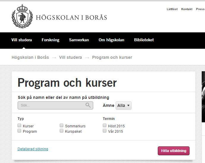 Kurser i Borås: http://www.hb.se/Vill-studera/Program-och-kurser/ (Guide till #Harvardsystemet: http://www.hb.se/Biblioteket/Skriva-och-referera/Guide-till-harvardsystemet/ ) . #Boraskurs