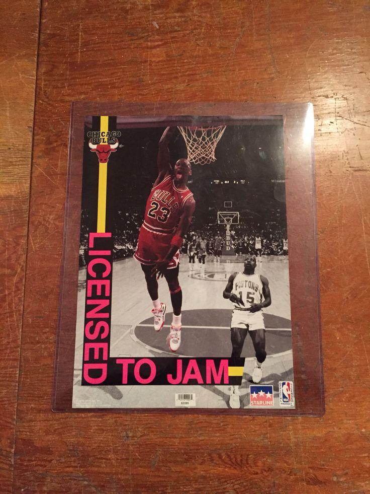 Michael Jordan @bulls vintage poster