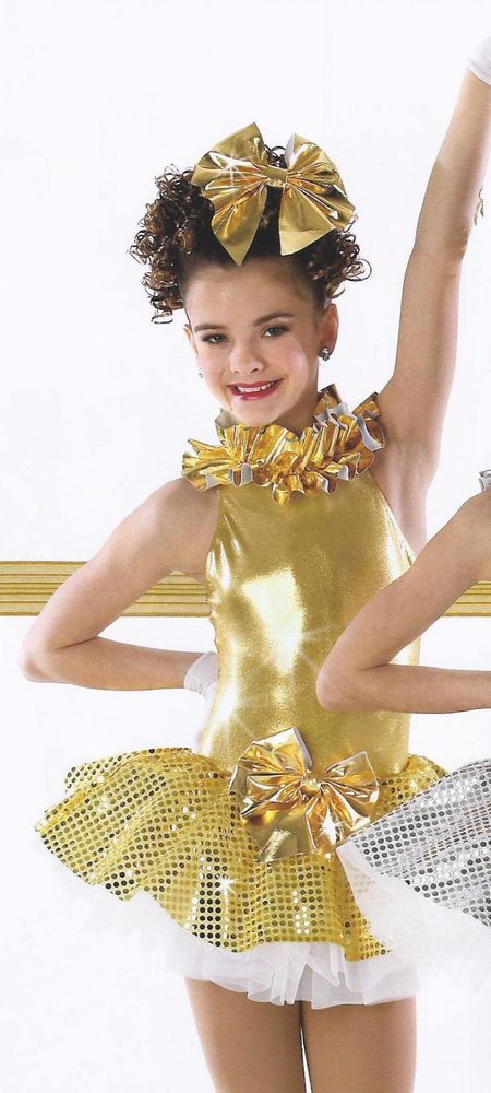 GOLD HOLIDAY BELLES Ballet Christmas Ice Skating Tutu Dance Costume CXS, CL #Cicci