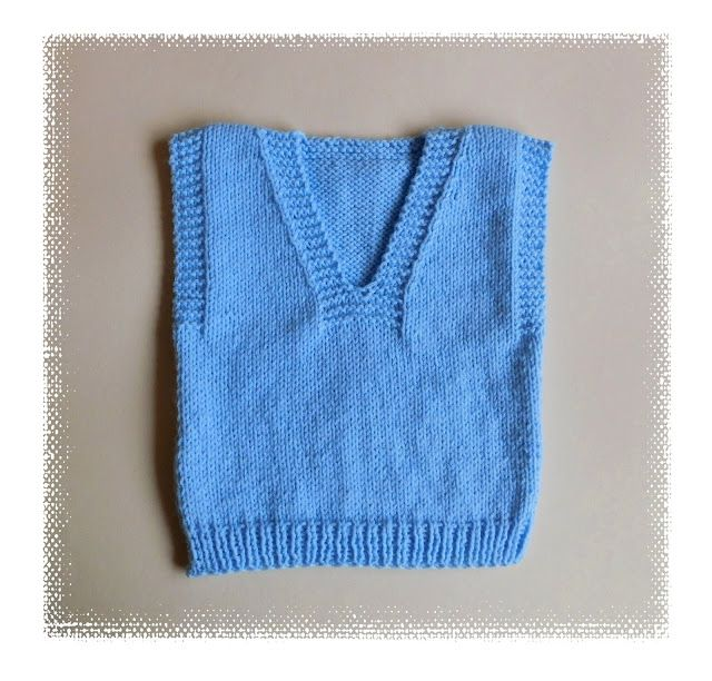 Dexter - All-in-One Slipover Sweater Well ....... 2016 has begun. For me a New Year is full of opportunity, and a time for optimism. I have started the year with a simple baby slipover / vest top. I